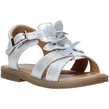 Topánky Dievčatá Sandále Grunland PS0062 Striebro
