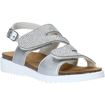 Topánky Dievčatá Sandále Grunland SB1559 Striebro