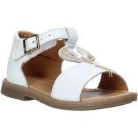 Topánky Dievčatá Sandále Grunland PS0063 Biely