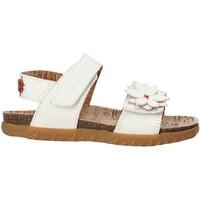 Topánky Dievčatá Sandále Grunland SB1564 Biely
