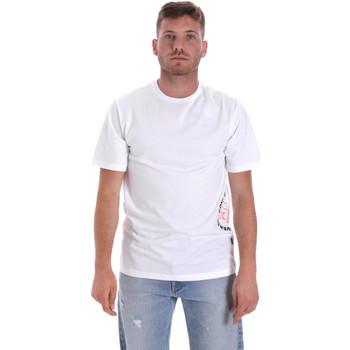 Oblečenie Muži Tričká s krátkym rukávom Converse 10018872-A02 Biely