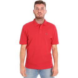 Oblečenie Muži Polokošele s krátkym rukávom Les Copains 9U9015 Červená