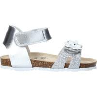Topánky Dievčatá Sandále Grunland SB1545 Striebro