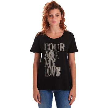 Oblečenie Ženy Tričká s krátkym rukávom Key Up 5Z19S 0001 čierna