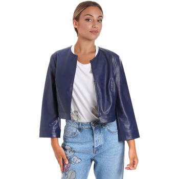 Oblečenie Ženy Kožené bundy a syntetické bundy Fracomina FR20SM708 Modrá