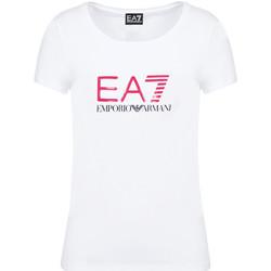Oblečenie Ženy Tričká s krátkym rukávom Ea7 Emporio Armani 8NTT63 TJ12Z Biely