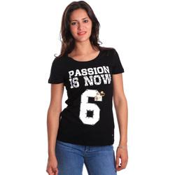 Oblečenie Ženy Tričká s krátkym rukávom Gaudi 811FD64056 čierna