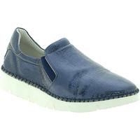Topánky Ženy Slip-on Mally 5711 Modrá