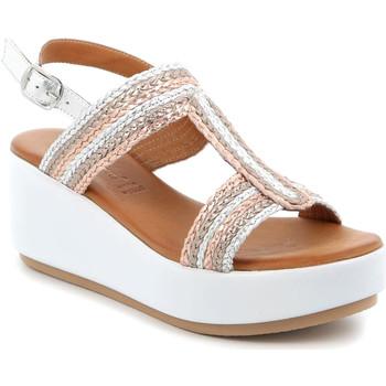 Topánky Ženy Sandále Grunland SA2489 Striebro