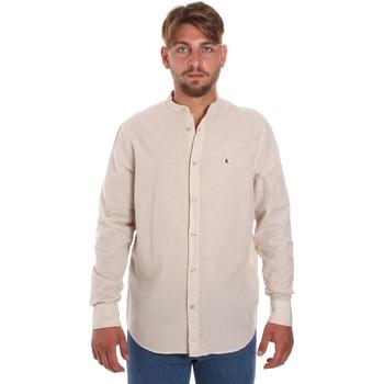 Oblečenie Muži Košele s dlhým rukávom Les Copains 9U2722 Béžová
