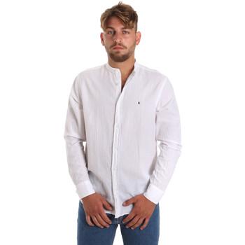 Oblečenie Muži Košele s dlhým rukávom Les Copains 9U2722 Biely