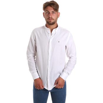 Oblečenie Muži Košele s dlhým rukávom Les Copains 9U2371 Biely
