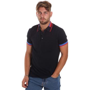 Oblečenie Muži Polokošele s krátkym rukávom Antony Morato MMKS01805 FA100213 Modrá