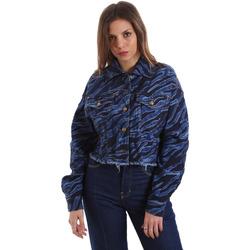 Oblečenie Ženy Džínsové bundy Versace C0HVB939AQC5Q904 Modrá