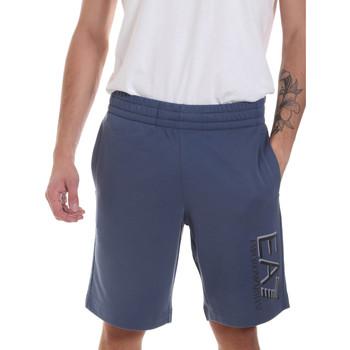 Oblečenie Muži Šortky a bermudy Ea7 Emporio Armani 3HPS73 PJ05Z Modrá