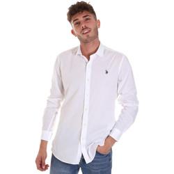 Oblečenie Muži Košele s dlhým rukávom U.S Polo Assn. 58835 50655 Biely