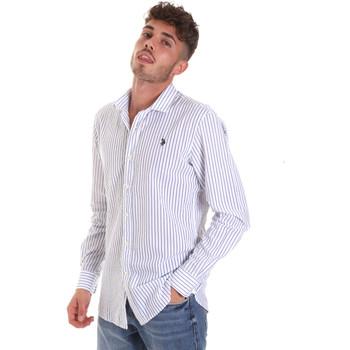 Oblečenie Muži Košele s dlhým rukávom U.S Polo Assn. 58829 52741 Modrá