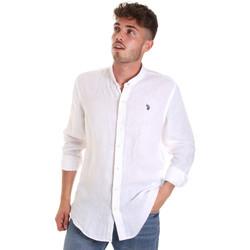 Oblečenie Muži Košele s dlhým rukávom U.S Polo Assn. 58667 50816 Biely