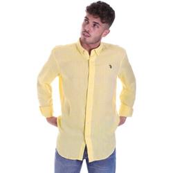 Oblečenie Muži Košele s dlhým rukávom U.S Polo Assn. 58574 50816 žltá