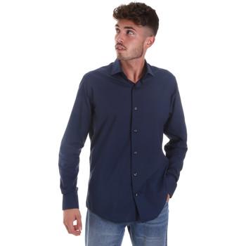 Oblečenie Muži Košele s dlhým rukávom Les Copains 18P.884 P3196SL Modrá
