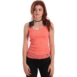 Oblečenie Ženy Tielka a tričká bez rukávov Fornarina BE175J75H26368 Oranžová