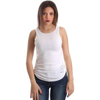 Oblečenie Ženy Tielka a tričká bez rukávov Ea7 Emporio Armani 3GTH54 TJ28Z Biely