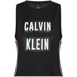 Oblečenie Ženy Tielka a tričká bez rukávov Calvin Klein Jeans 00GWT9K122 čierna