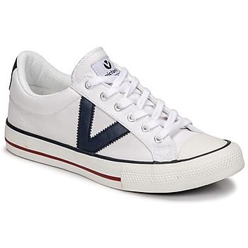 Topánky Nízke tenisky Victoria TRIBU LONA CONTRASTE Biela / Modrá