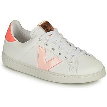 Topánky Dievčatá Nízke tenisky Victoria TENIS VEGANA CONTRASTE Biela / Ružová