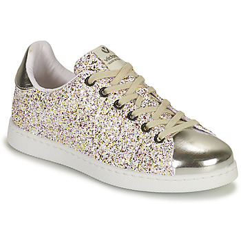 Topánky Dievčatá Nízke tenisky Victoria TENIS GLITTER Strieborná