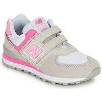 Topánky Dievčatá Nízke tenisky New Balance 574 Šedá / Ružová