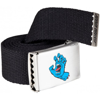 Textilné doplnky Muži Opasky Santa Cruz Screaming mini hand belt Čierna
