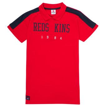 Oblečenie Chlapci Polokošele s krátkym rukávom Redskins PO180117-RED Červená