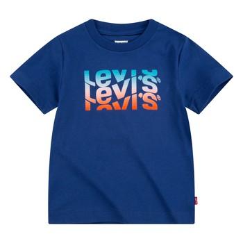 Oblečenie Chlapci Tričká s krátkym rukávom Levi's 9EC826-U29 Námornícka modrá
