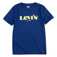 Oblečenie Chlapci Tričká s krátkym rukávom Levi's GRAPHIC TEE Modrá