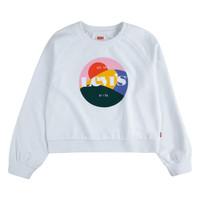 Oblečenie Dievčatá Mikiny Levi's 3ED410-001 Biela