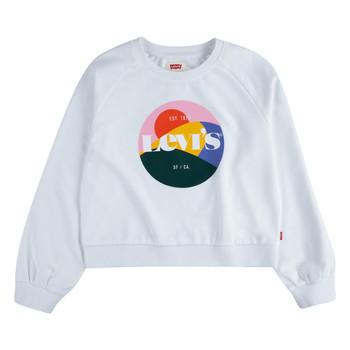 Oblečenie Dievčatá Mikiny Levi's 4ED410-001 Biela