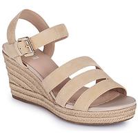 Topánky Ženy Sandále Geox D SOLEIL C Béžová