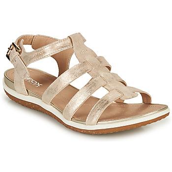 Topánky Ženy Sandále Geox D SANDAL VEGA A Zlatá