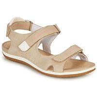 Topánky Ženy Sandále Geox D SANDAL VEGA A Béžová