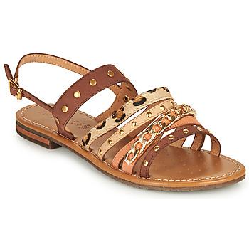 Topánky Ženy Sandále Geox D SOZY S I Hnedá / Béžová