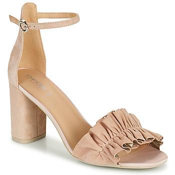 Topánky Ženy Sandále Geox D ERAKLIA HIGH E Béžová