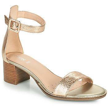 Topánky Ženy Sandále Geox D SOZY MID E Zlatá