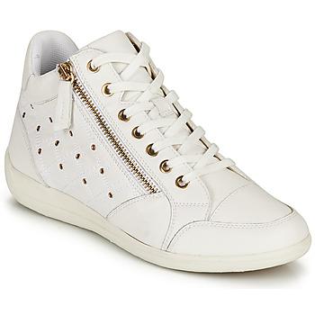 Topánky Ženy Členkové tenisky Geox D MYRIA G Biela
