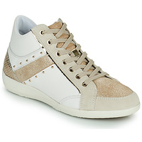 Topánky Ženy Členkové tenisky Geox D MYRIA G Biela / Béžová