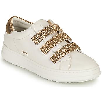 Topánky Ženy Nízke tenisky Geox D PONTOISE C Biela / Zlatá