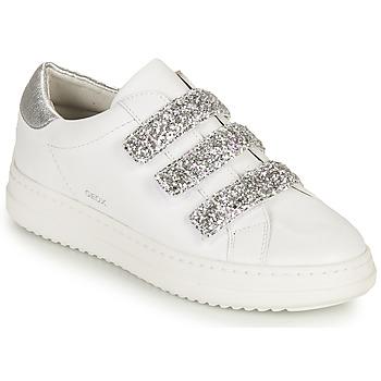 Topánky Ženy Nízke tenisky Geox D PONTOISE C Biela / Strieborná