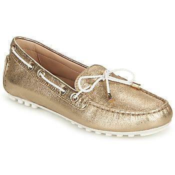 Topánky Ženy Mokasíny Geox D LEELYAN C Zlatá / Biela