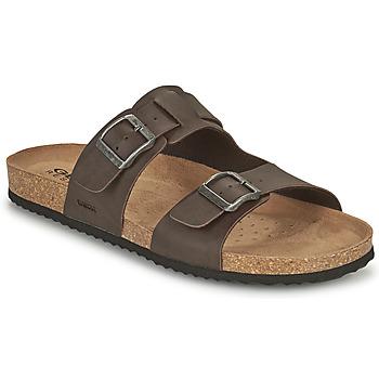 Topánky Muži Šľapky Geox U SANDAL GHITA B Hnedá