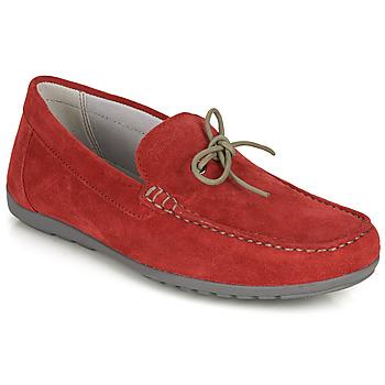 Topánky Muži Mokasíny Geox U TIVOLI A Červená